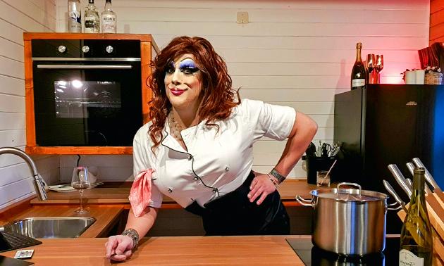 Online kookworkshop 'Cooking in drag'