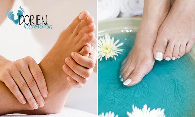 Voetreflexmassage + voetenbad (60 min)