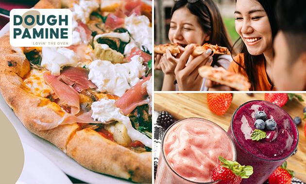 Thuisbezorgd of afhalen: pizza + smoothie naar keuze