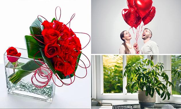 Waardebon voor ballonnen, bloemen en meer