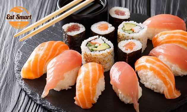 Afhalen: sushibox (16, 32 of 48 stuks) bij Eat Smart