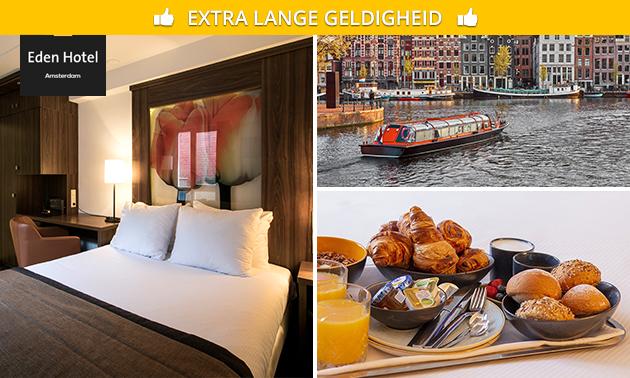Overnachting + ontbijt voor 2 aan de Amstel