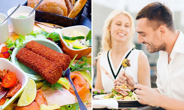 Luxe lunchplateau bij Eetcafé De Steenhoeve