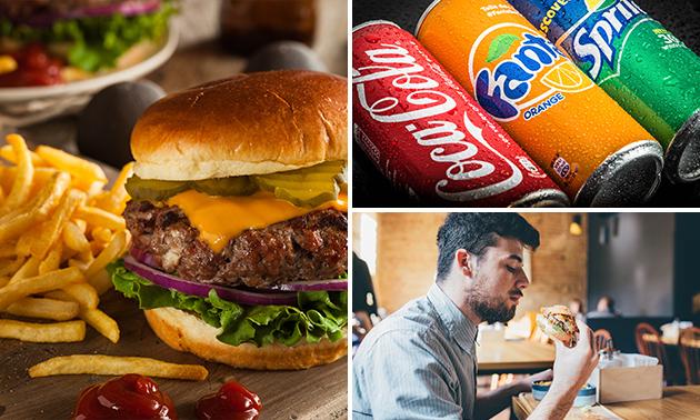 Afhalen: friet + saus + snack + drankje naar keuze