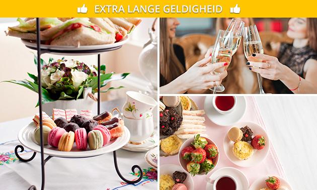 High tea + glas bubbels bij Tapperij 't Ambacht