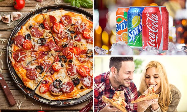 Afhalen: pizza + kleine salade + blikje fris