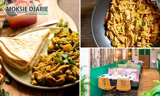 Afhalen: Surinaamse rijsttafel bij Eethuis Moksie Djarie