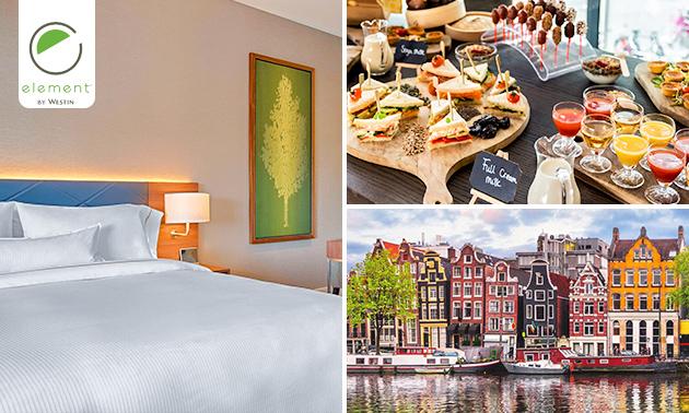 Overnachting voor 2 + ontbijt + diner in Amsterdam-Zuid
