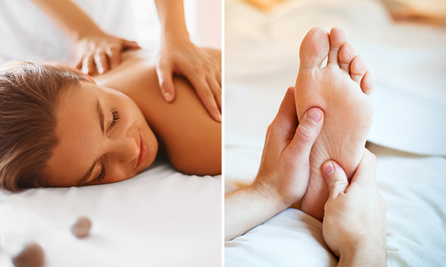 Ontspanningsmassage (30 min) of voetreflexmassage (45 min)