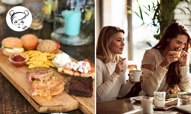 Luxe lunchplank bij Evi's in hartje Apeldoorn