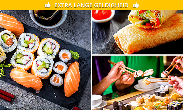 3-gangen sushidiner bij Exotic Food House