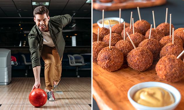 1 uur bowlen (2-6 pers.) + bitterballen bij De Belhamel