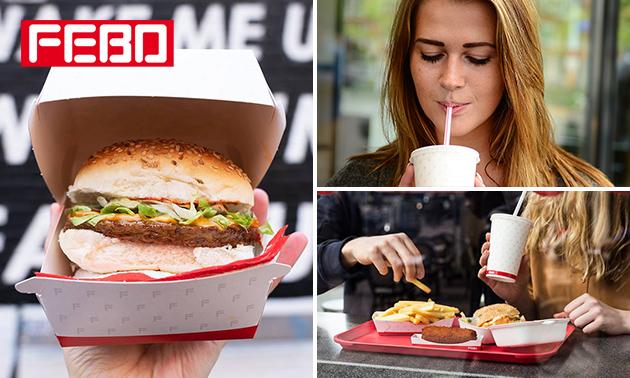 Bij FEBO: milkshake + evt. burger in hartje Tilburg