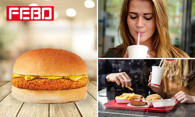Afhalen: kroketburger + milkshake bij FEBO