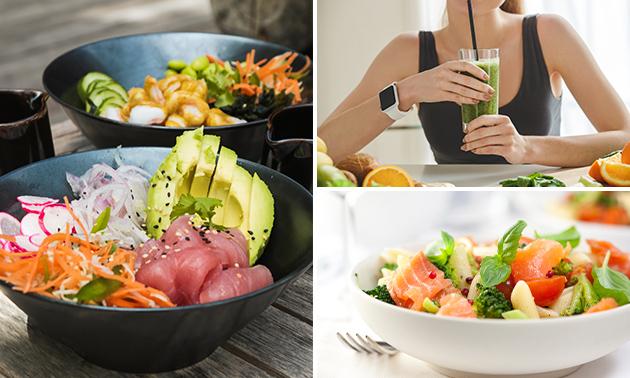 Afhalen: pokébowl of salade naar keuze + smoothie