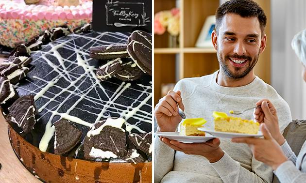 Thuisbezorgd/afhalen: taart vanaf 10 pers. + boodschap