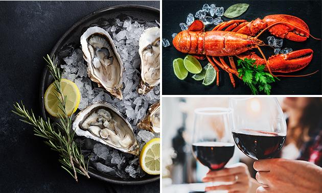 Afhalen: halve of hele kreeft + 3 of 6 oesters