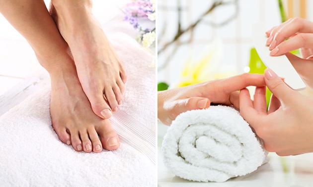 Manicure- of pedicurebehandeling (45 min)