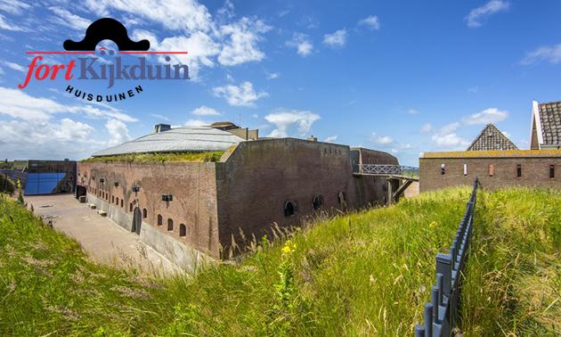 Entree voor Fort Kijkduin