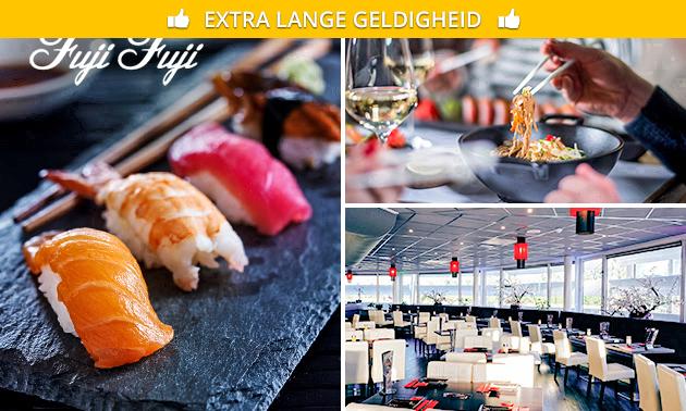All-You-Can-Eat lunch (2,5 uur) bij Fuji Fuji Sushi & Grill