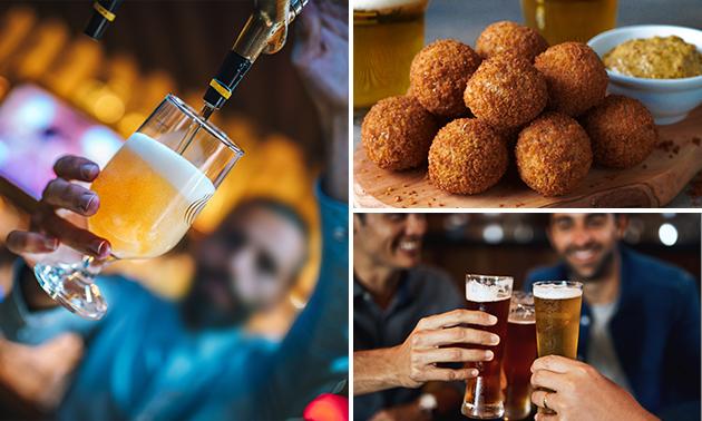 Borrelplank + 3 proefglazen bier in hartje Roermond