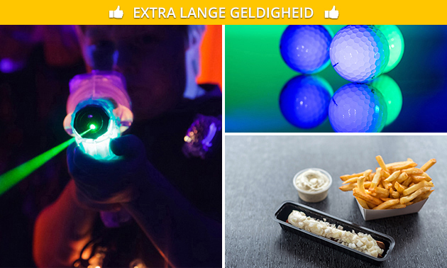 Glow-in-the-dark-minigolf + snackmenu