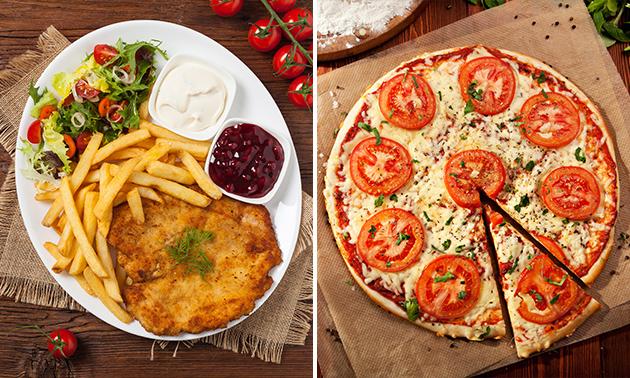 Pizza naar keuze of 3-gangen keuzediner