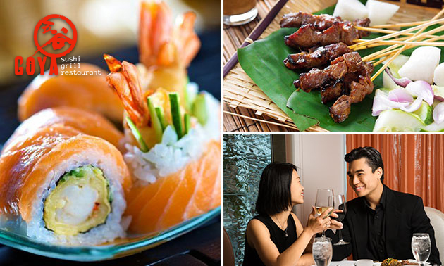 All-You-Can-Eat sushi & grill (3 uur) bij Goya