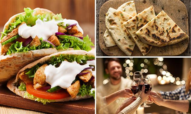 Afhalen: pita + blikje fris van Grieks Restaurant Sirtaki