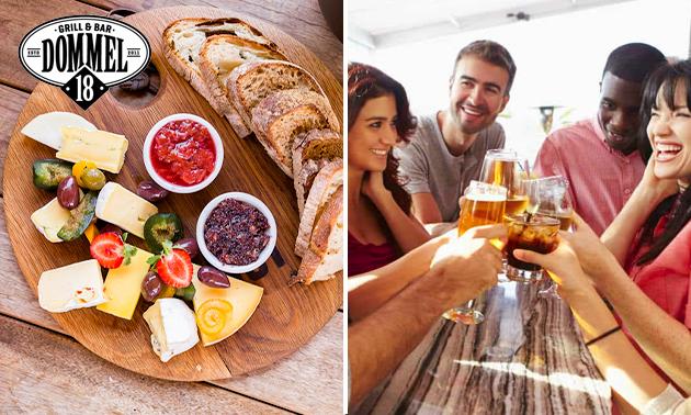 Bierproeverij + borrelplank bij Grill & Bar Dommel 18