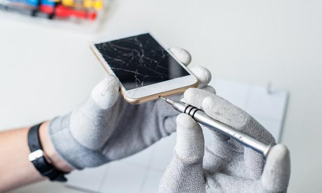 Batterij vervangen of schermreparatie van je iPhone