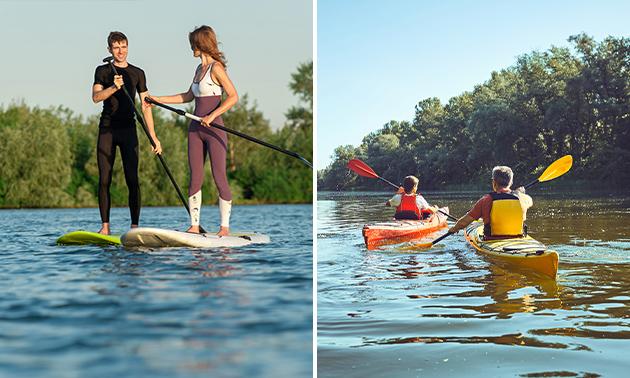 Voor 1 of meerdere personen: kano, SUP of boot huren