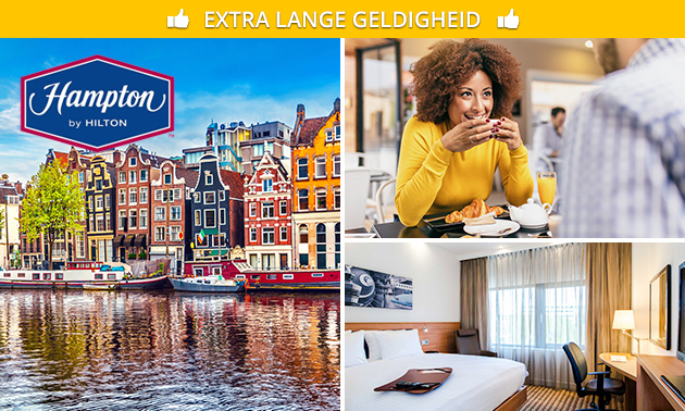 Overnachting + ontbijt voor 2 + parkeren nabij Amsterdam