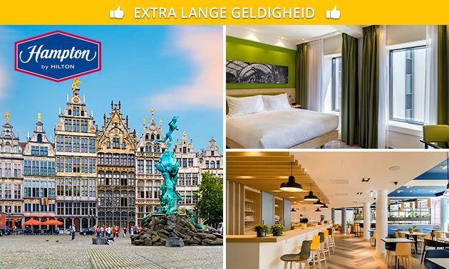 Overnachting + ontbijt voor 2 in hartje Antwerpen