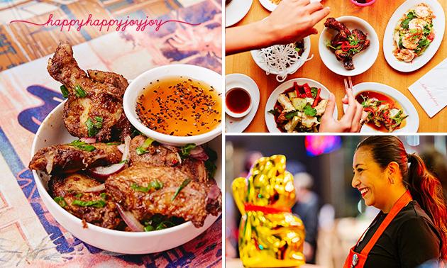 Afhalen: shared diner (7 gerechten) + bamboo-steamer