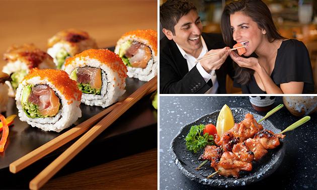 All-You-Can-Eat sushi en grill (3 uur) bij Heiwa