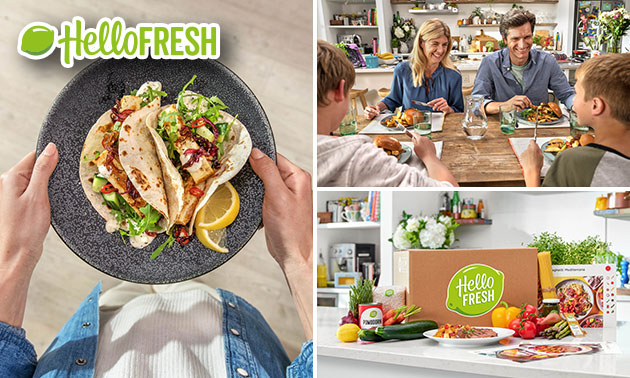 1, 2 of 4 maaltijdboxen van HelloFresh
