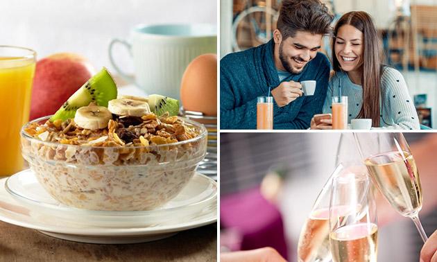 Luxe ontbijt + bubbels