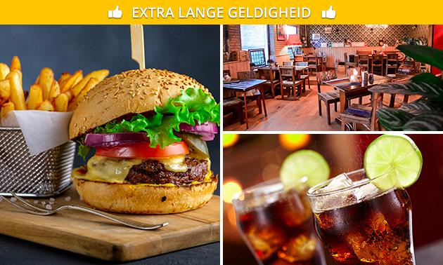 Burger + friet + drankje bij Herberg Thijssen