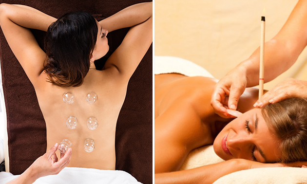 Cuppingmassage of oorkaarsbehandeling