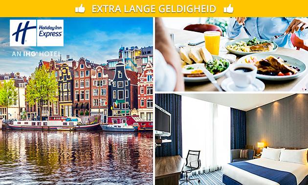 Overnachting + ontbijt + parkeren voor 2 in Amsterdam