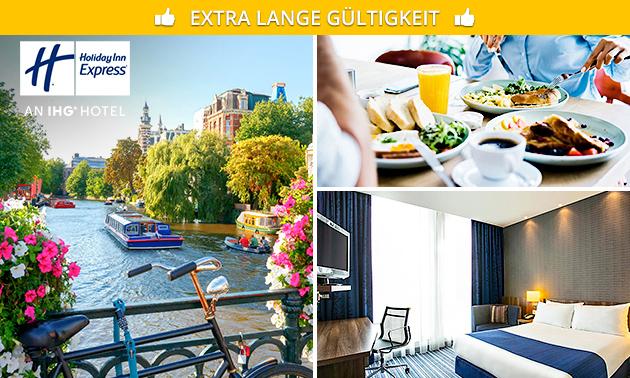 Übernachtung + Frühstück für 2 in Südost-Amsterdam