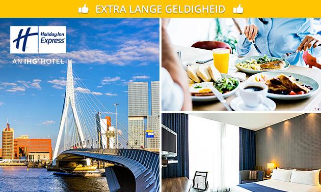 Overnachting + ontbijt + parkeren voor 2 in Rotterdam