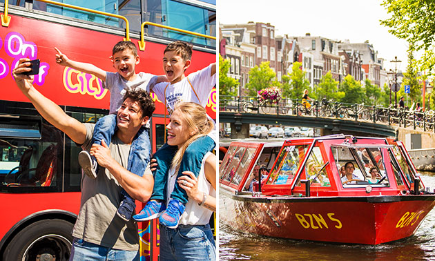Ticket voor de Hop on - Hop off bus en boot