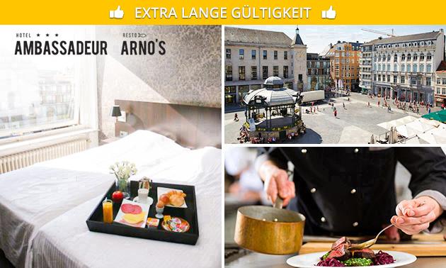 Übernachtung(en) + Sauna + Frühstück für 2 in Oostende