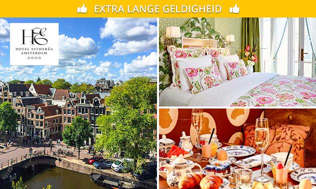 Overnachting + ontbijt voor 2 in hartje Amsterdam
