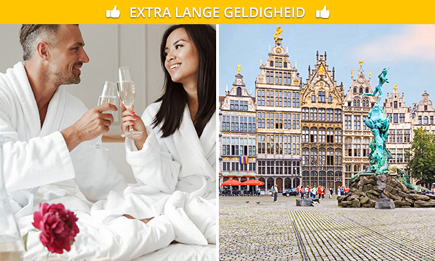 Overnachting voor 2 + fles cava in hartje Antwerpen