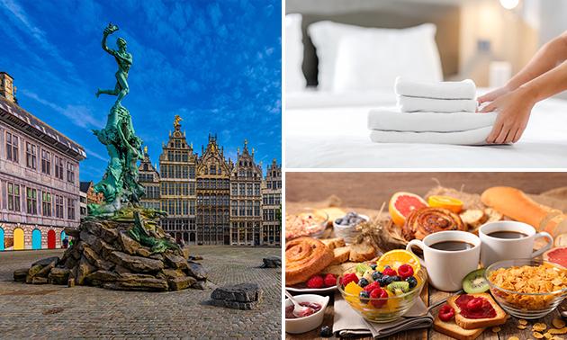 Overnachting voor 2 pers. + ontbijt in hartje Antwerpen