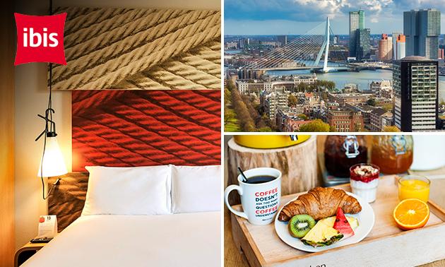 Overnachting + ontbijt voor 2 in hartje Rotterdam