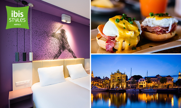 Overnachting voor 2 + ontbijt in Haarlem